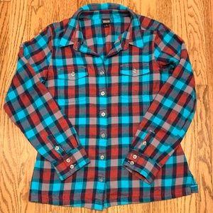 SOFT Like new Patagonia plaid flannel button down